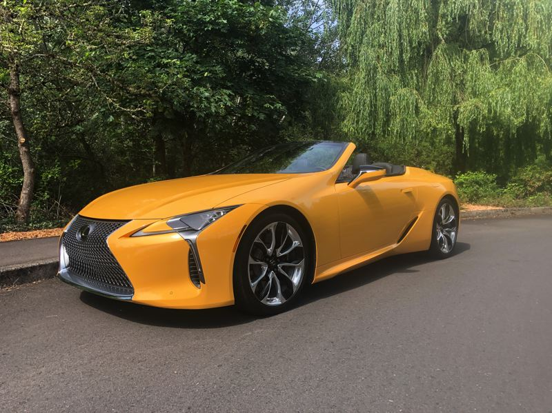 PMG PHOTO: JEFF ZURSCHMEIDE - The long awaited 2021 Lexus LC 500 Convertible is as striking as many European exotics costing much more.