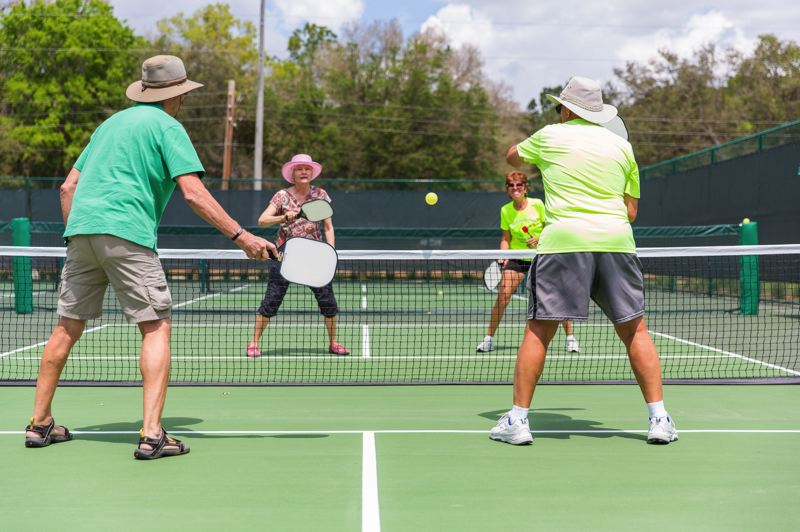 COURTESY PHOTO: THE VILLAGESFL - Pickleball can be played by folks of all ages and skill levels. Courts are likely coming to Troutdale.