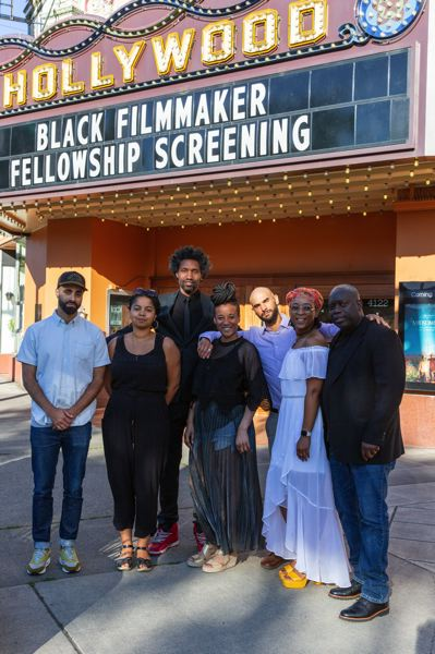COURTESY PHOTO: OPEN SIGNAL - Black fellows with Open Signal Labs, led by executive producer Ifanyi Bell (third from left), had screenings at Hollywood Theatre last year.