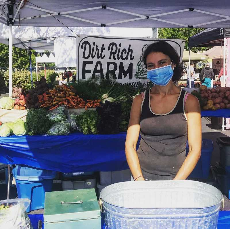 COURTESY PHOTO - Allison Necheles of Dirt Rich Farm is one of the new vendors at the year-round Oregon City YFarmers Market.
