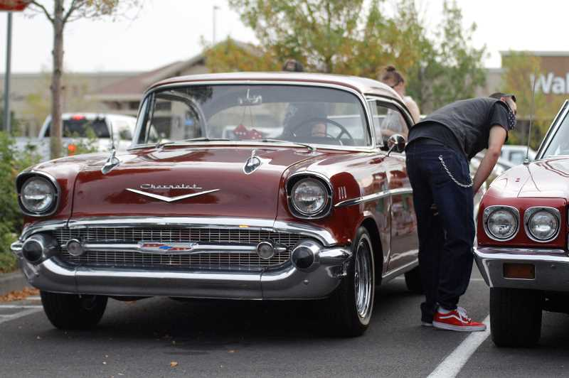 PMG PHOTO: WADE EVANSON - One of the more than 30 cars on display at the Forest Grove Cruise-In Friday night, July 31, at the Walmart in Cornelius. The event is free and runs every Friday night through September, weather permitting.