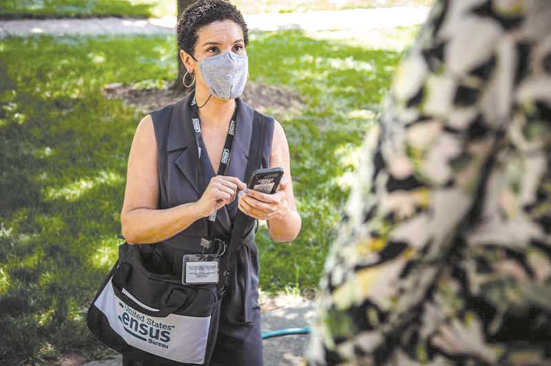 COURTESY PHOTO: U.S. CENSUS BUREAU - Census-takers have been trained in local public health guidelines; they will be wearing masks and following social-distancing protocols when they visit.