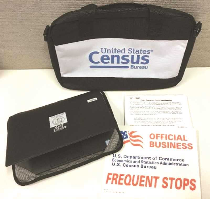 COURTESY PHOTO: U.S. CENSUS BUREAU - Census-takers will have official badges and other marked paraphernalia.