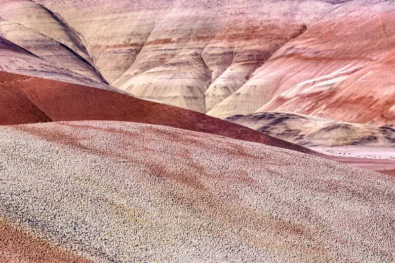 LON AUSTIN  - The magnificent Painted Hills in Wheeler County, a highlight of the Painted Hills National Monument.