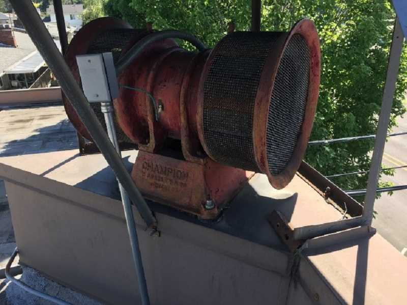 COURTESY PHOTO - Gladstone's old air raid siren will need to be removed from its perch on City Hall, which is being demolished to make way for a new library.