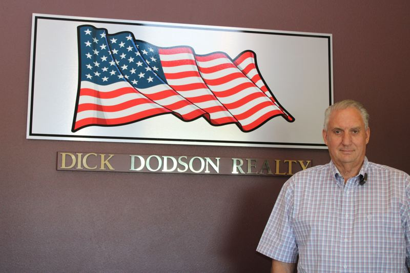 TERESA JACKSON/MADRAS PIONEER - Dick Dodson decided not to renew his contract with Coldwell Banker, going independent as Dick Dodson Realty instead.