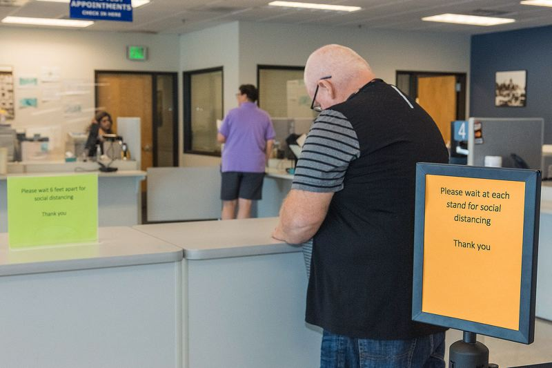 ODOT PHOTO: GREG WESTERGAARD  - Masks and other social distancing procedures are now in effect at all Oregon DMV offices.