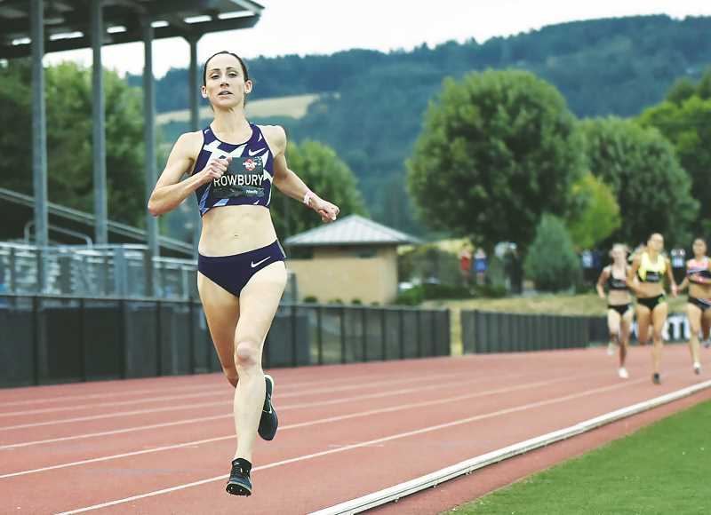 COURTESY PHOTO: PORTLAND TRACK CLUB - Three-time Olympian Shannon Rowbury was among the athletes to compete in the 'Big Friendly' meet at Newberg High School on July 31.