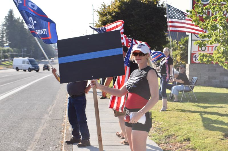 PMG FILE PHOTO - Dixie Bailey hosts 'non-political' flag wave events every week.