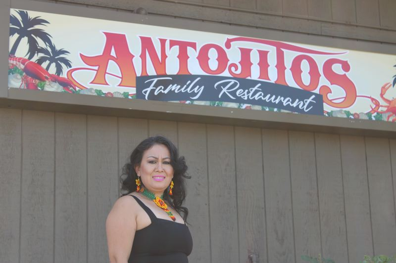 TERESA JACKSON/MADRAS PIONEER - Antojitos owner Ana Delia Pacheco opened the restaurant just two days before Gov. Kate Brown ordered the closure of restaurants statewide due to the coronavirus pandemic.