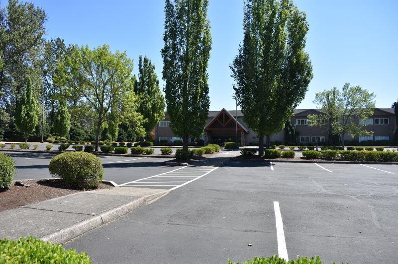 PMG PHOTO: TERESA CARSON - On a recent Sunday morning at Grace Community Church, the normally busy parking lot was quiet and empty.