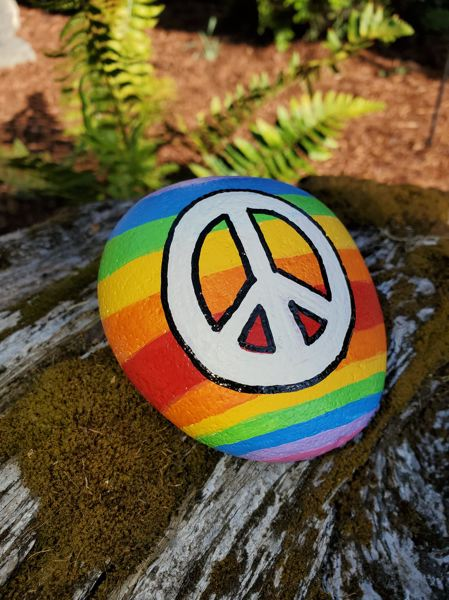 COURTESY PHOTO: KELLY NAGLE JONES - Fairviews new Hope Rock Gardens lets folks add a painted rock or take one from either Community Park, 21600 N.E. Park Lane or Handy Park, 120 First St.