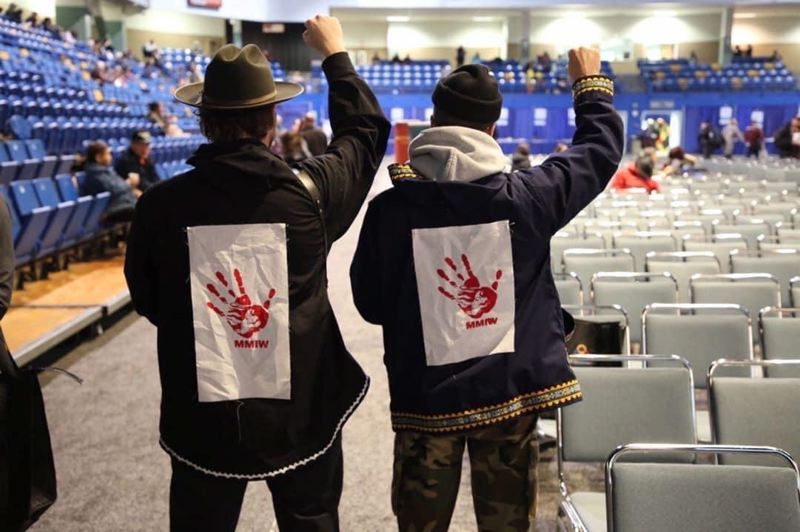 COURTESY PHOTO: PTM FOUNDATION - Zach Carothers (left) and John Gourley attended the Alaska Federation of Natives Convention. They're from Alaska, and have always been compassionate about the lives of Native Americans.