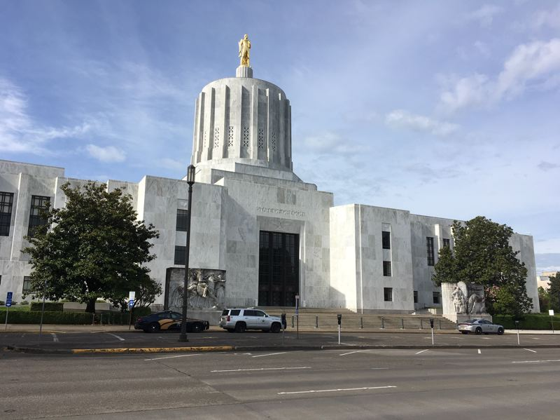 PMG PHOTO: PETER WONG - The Oregon Capitol, where a special session of the Legislature may take up a bill to disconnect Oregon's tax code from three federal tax breaks for businesses included in the CARES Act signed March 27. The special session, second this summer, opens Monday, Aug. 10.