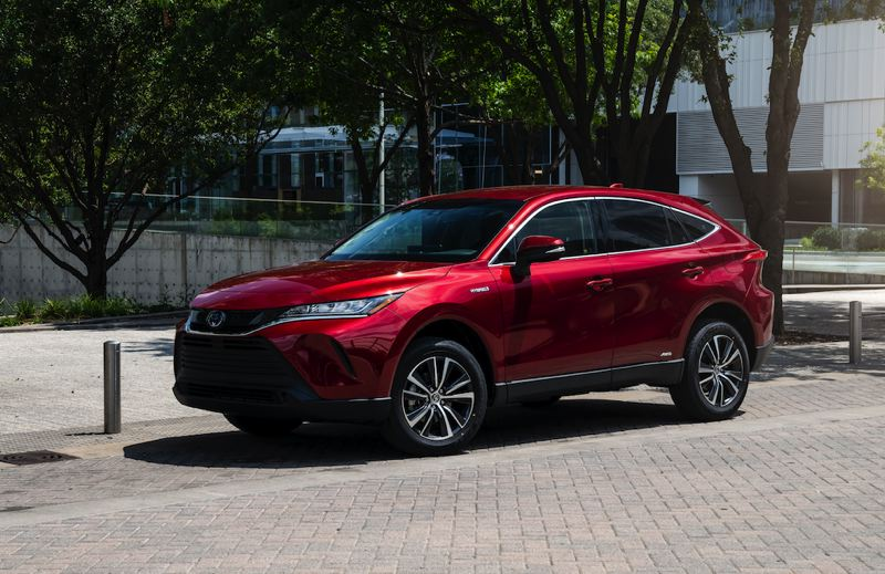 COURTESY TOYOTA - The 2021 Toyota Venza is a sharp looking crossover hybrid with that fills the compact RAV4 and the three-row Highlander.
