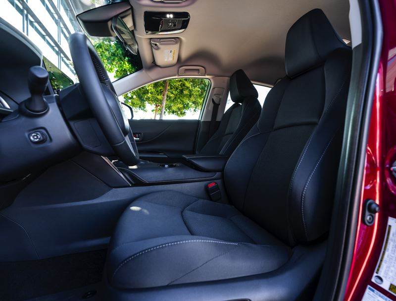 COURTESY TOYOTA - The front bucket seats in the 2021 Toyota Venza are very comfotable and can be ordered in leather.