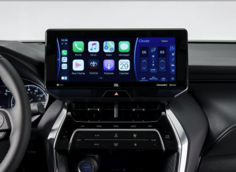 COURTESY TOYOTA - The optional 12.3-inch screen in the 2021 Toyota Venza can be configued in multiple ways, inlcuding divided into thirds for displaying multiple sources of information.
