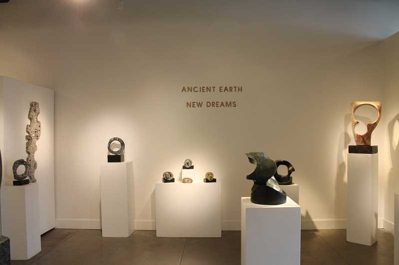 PMG PHOTO: HOLLY BARTHOLOMEW - Dave Haslett has an exhibit on display called 'Ancient Earth New Dreams' at the Waterstone Gallery.