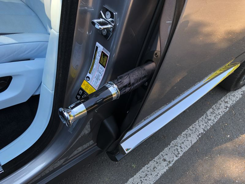 PMG PHOTO: JEFF ZURSCHMEIDE - Yes, that is a hidden umbrella that is always ready if you encounter wet weather while riding in the 2021 Rolls-Royce Callivan.