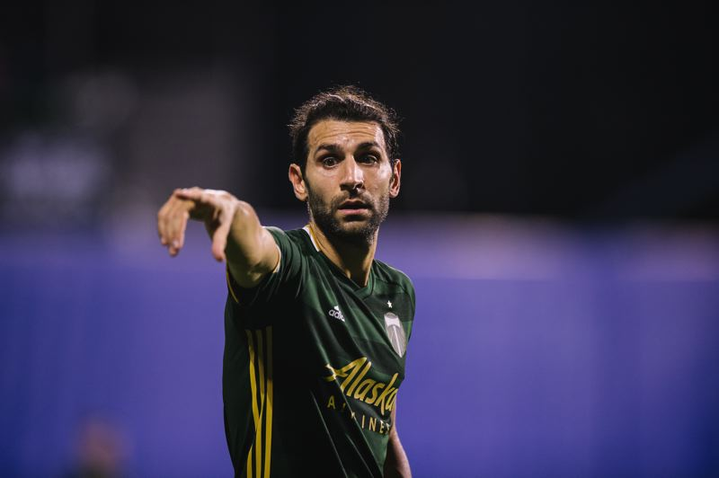 COURSTESY PHOTO: MLS/JARED MARTINEZ, MATT STITH & DEVIN L'AMOREAUX - Diego Valeri and the Timbers are pointing tward a trophy. They face Orlando City at 5:30 p.m. Tuesday in the championship match of the MLS is Back Tournament at Orlando, Florida.
