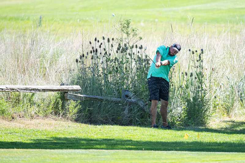 LON AUSTIN - Jake Shinkle's steady two days of play captured the overall title in the Meadow Lakes Golf Course Men's Club Championship, held Aug. 1-2. Shinkle carded a 77-76-153. Ted Kennedy finished second. Jerry Humphreys shot a sizzling 73 on Sunday to get into contention, but had to settle for a third-place tie.