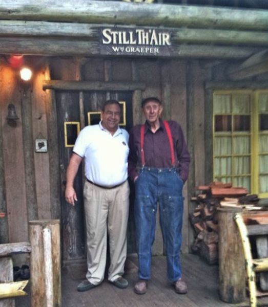 COURTESY PHOTO: STEVE GRAEPER - Steve Graeper enjoyed a visit to his Steiner cabin by John Steiner himself in 2006. He then learned John had actually been the main Steiner involved in building the Still Thair.