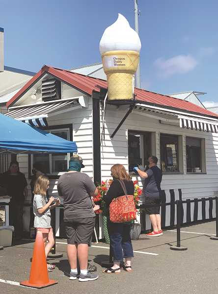 COURTESY PHOTO: OREGON DAIRY WOMEN - The 'Red Barn on Wheels' pop-up ice cream stand is a fundraiser for the Oregon Dairy Women.