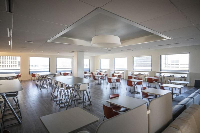 PMG PHOTO: JONATHAN HOUSE - The brand new, and empty, dining area on the 15th floor of the renovated Portland Building.