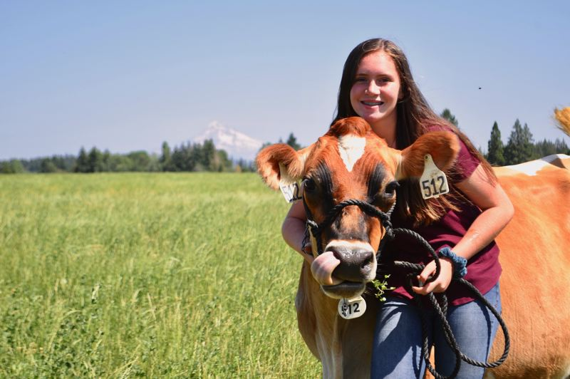 PMG PHOTO: BRITTANY ALLEN - Elizabeth has been showing cows since she was 5, and is now also competing in FFA contests through Sandy High while maintaining a 3.7 GPA.