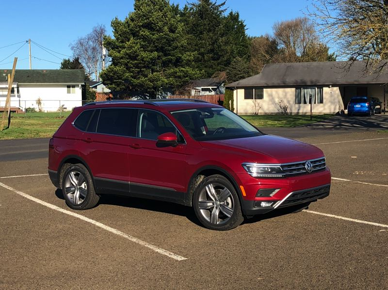 PMG PHOTO: JEFF ZURSCHMEIDE - The Volkswagen Tiguan is a well designed compact crossover with a surprising amount of interior space and even an available third row of seats. It can be ordered with 4Motion all-wheel-drive, which improives traction on wet weather driving.