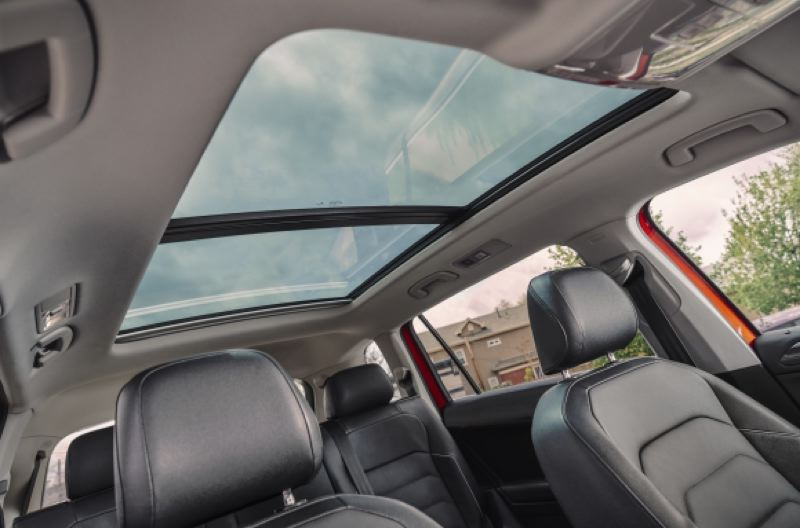 COURTESY VOLKSWAGEN - Options for the 2020 Tiguan include a large sunroof.