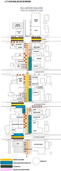 PROVIDED ILLUSTRATION - What might the proposed Main Street Plaza, on S.E. 13th Avenue on weekends, actually look like? Heres the design thats been submitted.