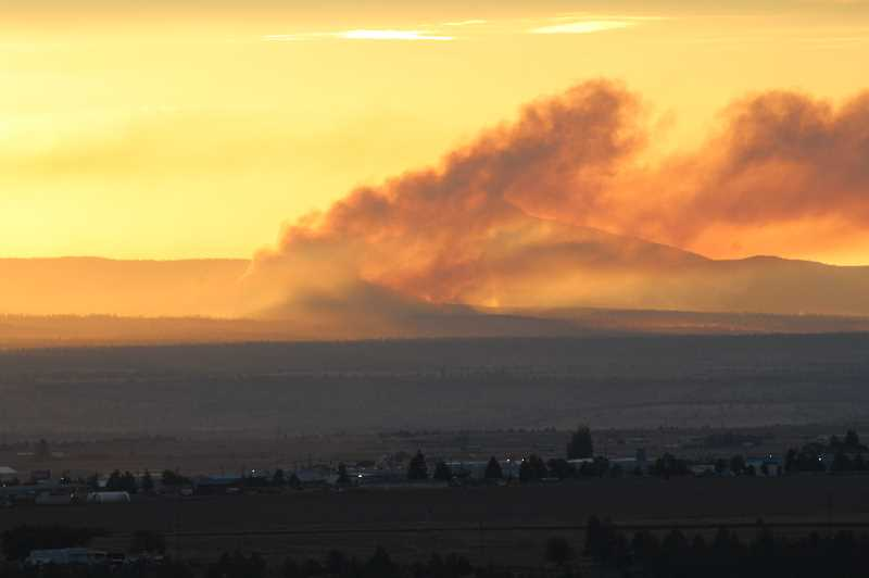 TONY AHERN/MADRAS PIONEER - Lightning sparked at least 39 fires Sunday and Monday, including five on the Warm Springs Reservation. Two of three were contained by Tuesday morning.