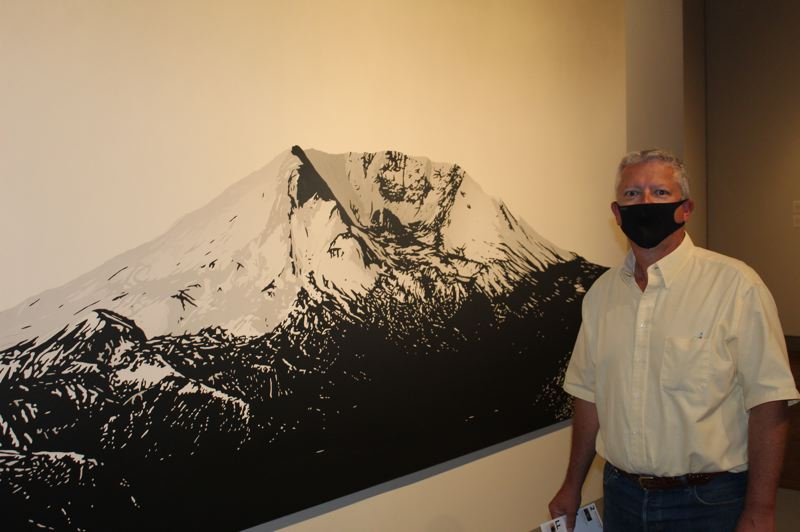 PMG: JOSEPH GALLIVAN - Geotechnical engineer Jim Imbrie at the Portland Art Museum's Volcano! show. Imbrie is celebrating 20 years running GeoPacific Engineering. He was inspired by the landslide that preceded the giant eruption of Mount St. Helens in 1980.
