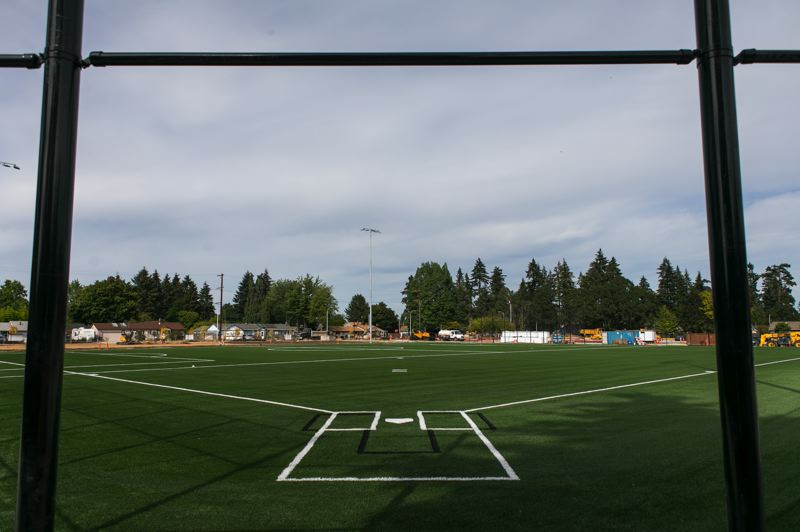PMG PHOTO: JAIME VALDEZ - A new turf field at the Hillsboro School District's new Brookwood Elementary School, which is nearing completion.