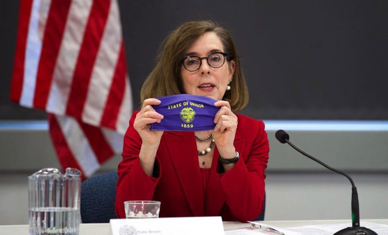 PMG FILE PHOTO - Gov. Kate Brown is threatening new restrictions if coronavirus numbers don't improve.