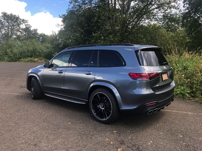PMG PHOTO: JEFF ZURSCHMEIDE - The boxy design of the Mercedes-AMG GLS63 creates an enormous amount of interior room for passengers and cargo.