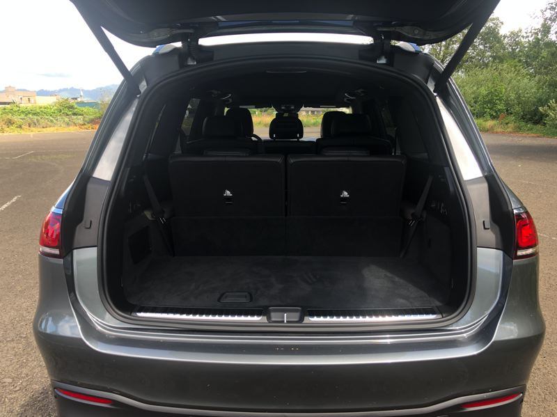 PMG PHOTO: JEFF ZURSCHMEIDE - The Mercedes-AMG GLS63 can be configured for six or seven people, and all the rear seats fold down, so you can use any GLS for hauling cargo as well as people.
