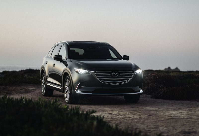 COURTESY MAZDA - The 2020 Mazda CX-9 is a classy affordable crossover SUV, with beautiful exterior lines, a refined interior, and powerful turbocharged engine and available all-wheel-drive.