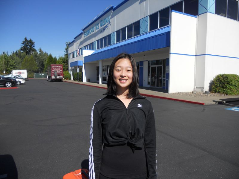 PMG PHOTO: SCOTT KEITH - Danika Lee, a recent graduate from Oregon Connections Academy, is a regular at the Sherwood Ice Arena.