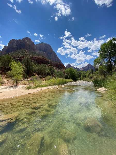 COURTESY PHOTO: LUKE OVGARD - Suckers prefer pools, so look for deeper water like this if you intend to fish Zion National Park.