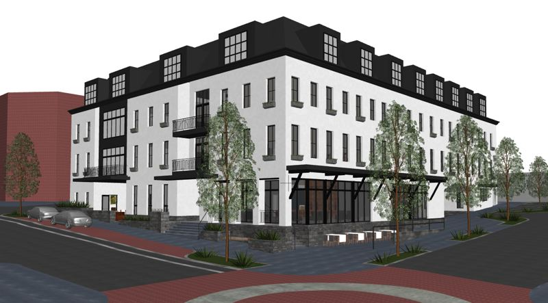 COURTESY PHOTO: NATHAN COOPRIDER ARCHITECT - A rendering of the proposed hotel for the North Anchor project.