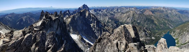 PMG PHOTO: JONATHAN HOUSE - This is a panorama from the summit of Dragontail Peak, which is in the Enchantments area of Washington.