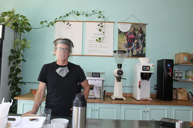 PAMPLIN MEDIA GROUP: JOSEPH GALLIVAN  - Dax Johnson has pivoted has coffee shop, Capitola Coffee, which he opened in 2018 on Northeast Prescott St. Now his business depends on selling roasted beans by the bag more than on making drinks.