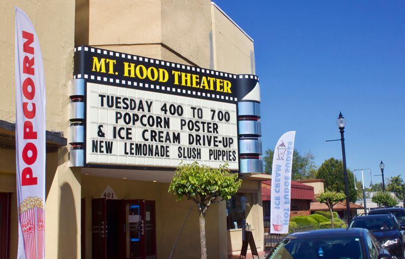 PMG PHOTO: CHRISTOPHER KEIZUR - Mt. Hood Theater has been staying afloat during the pandemic thanks to its popcorn sales.