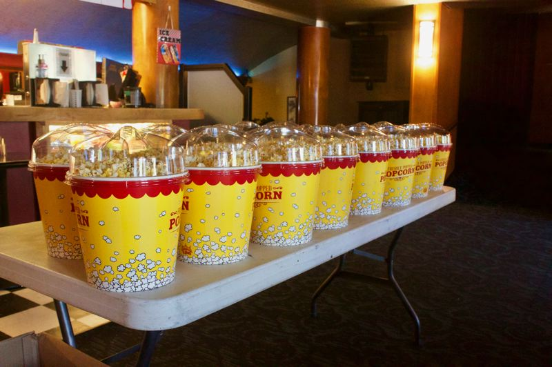 PMG PHOTO: CHRISTOPHER KEIZUR - Popcorn is the best seller, though the theater also has frozen treats, posters and more.