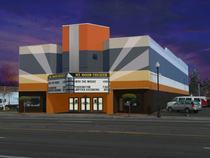 COURTESY PHOTO: MT. HOOD THEATER - Mt. Hood Theater is looking toward the future with this planned paint job.