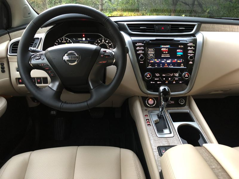 PMG PHOTO: JEFF ZURSCHMEIDE - The 2020 Nissan Murano offer practically every available automotive technology, and the advanced safety systems are standard.