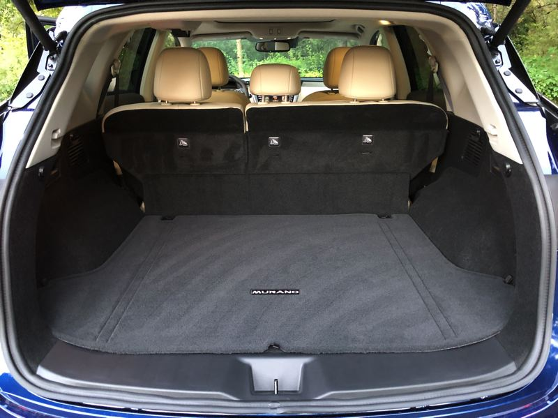 PMG PHOTO: JEFF ZURSCHMEIDE - Not have a third roew of seats creates a trememdous amount of cargo space in the 2020 Nissan Murano.