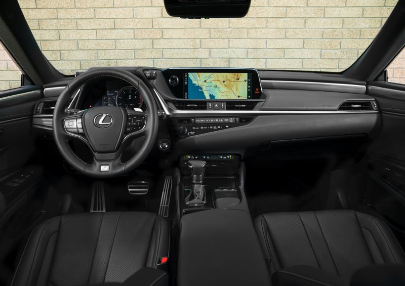 COURTESY LEXUS - The interior of the 2020 Lexus 300h is highlighted by a large display screen and high quality materials.